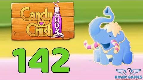 Candy Crush Soda Saga 🍾 Level 142 (Frosting mode) - 3 Stars Walkthrough, No Boosters