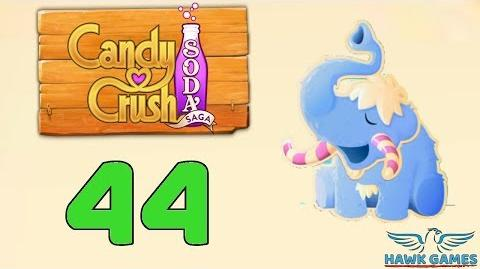 Candy Crush Soda Saga Level 44 (Frosting mode) - 3 Stars Walkthrough, No Boosters