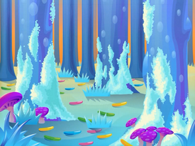 Frosting Forest background