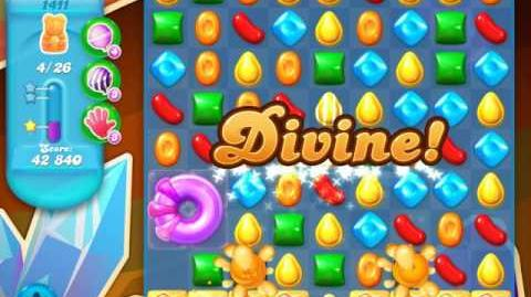 Candy Crush Soda Saga Level 1411 (nerfed, 3 Stars)