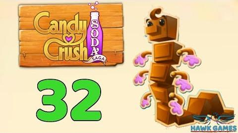 Candy Crush Soda Saga Level 32 (Chocolate mode) - 3 Stars Walkthrough, No Boosters