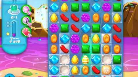 Candy Crush Soda Saga Level 28 (2nd nerfed, 3 Stars)