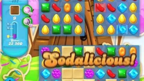 Candy Crush Soda Saga Level 492 (2nd nerfed, 3 Stars)