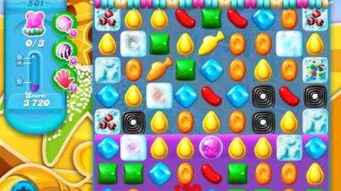 Candy Crush Soda Saga Level 501 (9th version, 3 Stars)