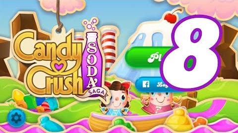 Candy Crush Soda Saga Level 8 New (4th version) (Best Fishing Tournament Level)