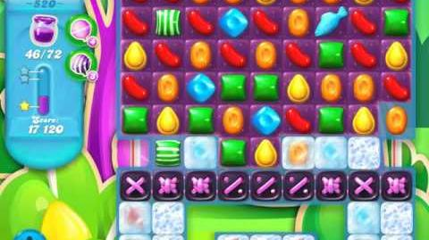 Candy Crush Soda Saga Level 520 (4th version, 3 Stars)