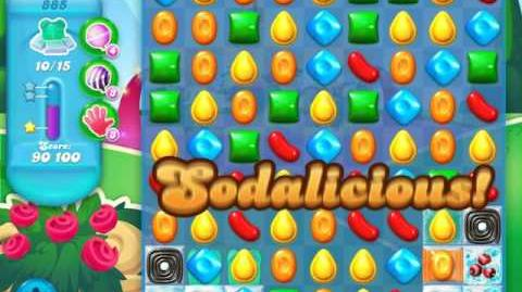 Candy Crush Soda Saga Level 885 (5th version, 3 Stars)