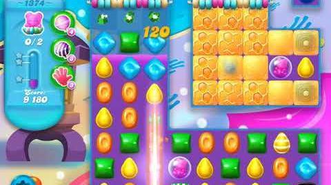 Candy Crush Soda Saga Level 1374 (4th version, 3 Stars)