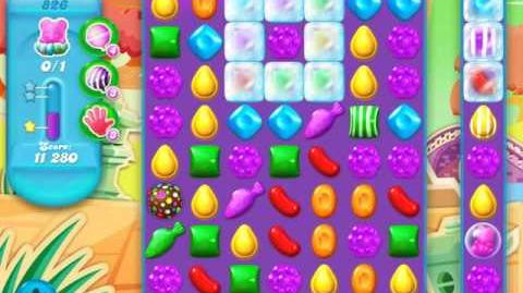 Candy Crush Soda Saga Level 826 (buffed, 3 Stars)