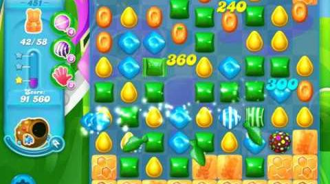 Candy Crush Soda Saga Level 451 (6th version, 3 Stars)