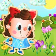 Kimmy-picking flower