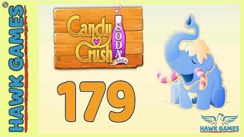 Candy Crush Soda Saga Level 179 (Frosting mode) - 3 Stars Walkthrough, No Boosters