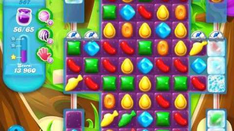 Candy Crush Soda Saga Level 587 (buffed, 3 Stars)