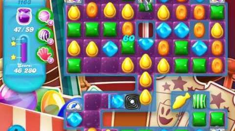 Candy Crush Soda Saga Level 1163 (nerfed, 3 Stars)