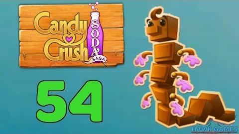 Candy Crush Soda Saga Level 54 (Chocolate mode) - 3 Stars Walkthrough, No Boosters