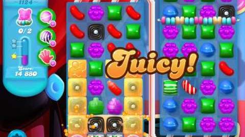 Candy Crush Soda Saga Level 1124 (buffed, 3 Stars)