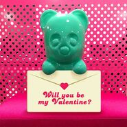 Will you be my Valentine with Candy Bear