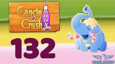 Candy Crush Soda Saga 🍾 Level 132 Hard (Frosting mode) - 3 Stars Walkthrough, No Boosters