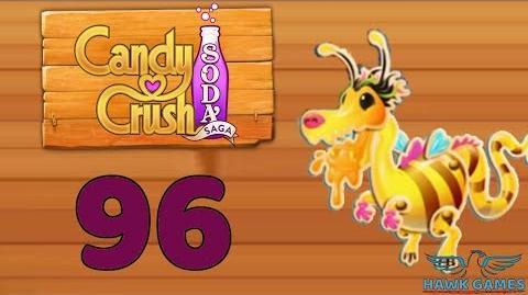 Candy Crush Soda Saga Level 96 Hard (Honey mode) - 3 Stars Walkthrough, No Boosters