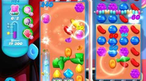 Candy Crush Soda Saga Level 1124 (7th version, 3 Stars)