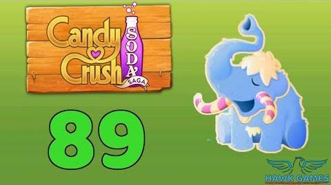 Candy Crush Soda Saga Level 89 (Frosting mode) - 3 Stars Walkthrough, No Boosters