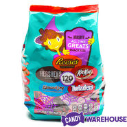 Hershey All Time Greats Snack Size Halloween Candy Assortment 120-Piece Bag