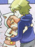 Joni hugging Mikael