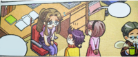 Emilia meeting Miss Miyuki