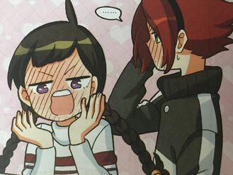 Vani and Peter blushing