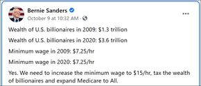 US billionaires in 2009 and 2020