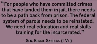 Bernie Sanders on parole and education