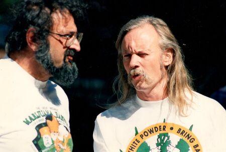 Jack Herer, Dana Beal. 1989 Great Midwest Marijuana Harvest Fest in Madison Wisconsin