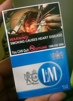 Cigarette pack of L&M Blue in Singapore