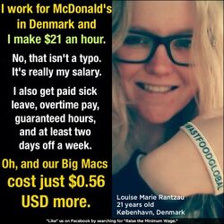 Denmark $21 an hour, Big Mac