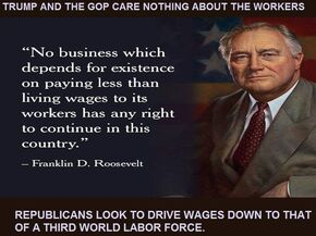Roosevelt and living wage