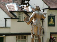 Thomas Paine statue in Thetford, Norfolk, England. July 2004