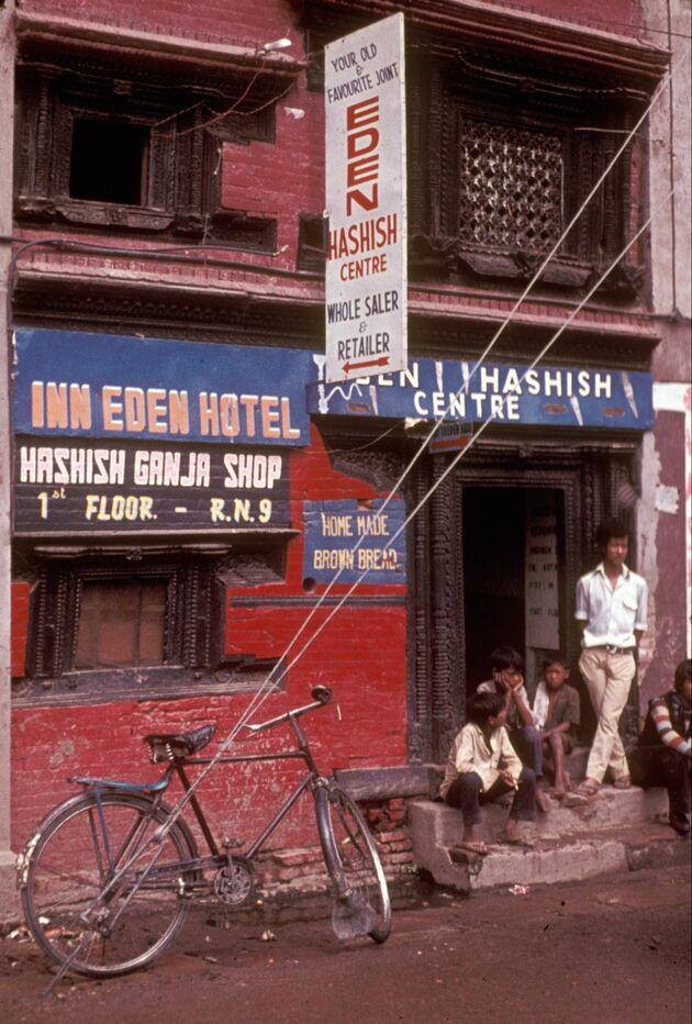 Kathmandu hashish shop 1973 Nepal
