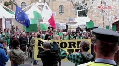 Decriminalise Cannabis Protest In Malta 2011