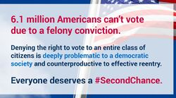 Disenfranchisement. Second chance. 6.1 million Americans