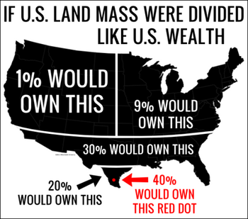 If US land mass were distributed like US wealth