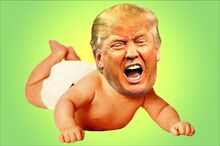Trump baby crying wah wah wah