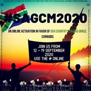 South Africa 2020 Sep 12-19. Global Cannabis E-Protest