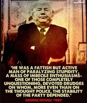 Trump according to George Orwell