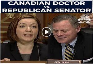 Canadian doctor versus Republican senator