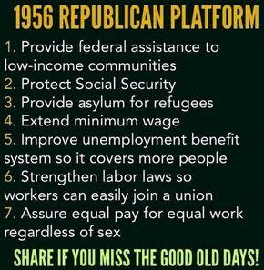 1956 Republican platform meme