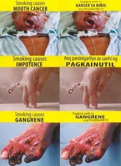 PH tobacco packaging graphic warning labels