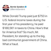 Trump paid taxes in China