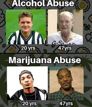 Alcohol abuse, marijuana abuse