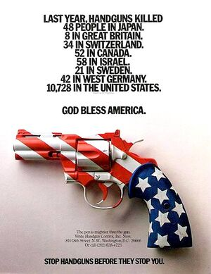 Handgun deaths by country
