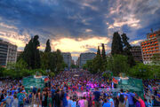 Athens 2015 May 9 Greece crowd 3